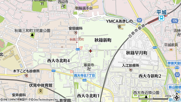 〒631-0813 奈良県奈良市秋篠新町の地図