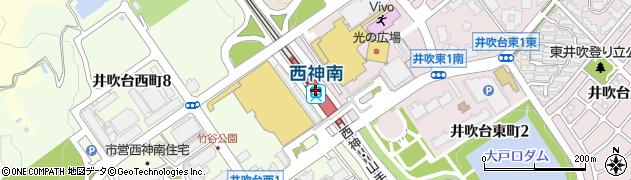 兵庫県神戸市西区周辺の地図