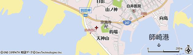 愛知県南知多町(知多郡)師崎(天神山)周辺の地図