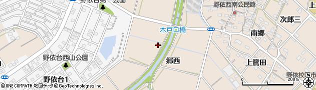 愛知県豊橋市野依町(郷西)周辺の地図