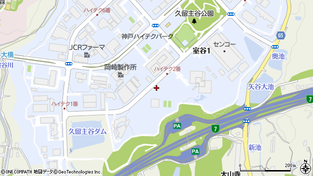 〒651-2241 兵庫県神戸市西区室谷の地図