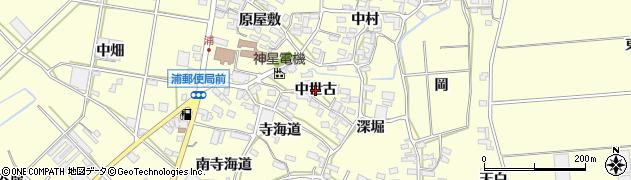 愛知県田原市浦町(中世古)周辺の地図