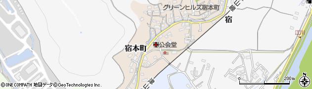 岡山県岡山市北区宿本町周辺の地図