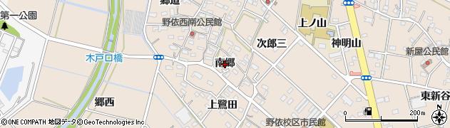 愛知県豊橋市野依町(南郷)周辺の地図