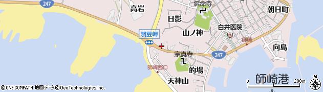 愛知県南知多町(知多郡)師崎(折戸)周辺の地図