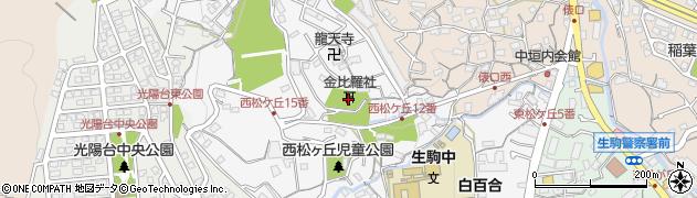 長命寺金比羅社周辺の地図