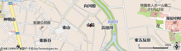 愛知県豊橋市野依町(山脇)周辺の地図