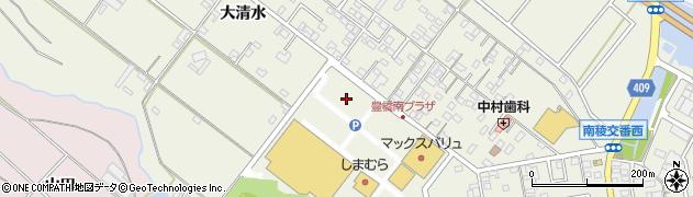 愛知県豊橋市大清水町周辺の地図