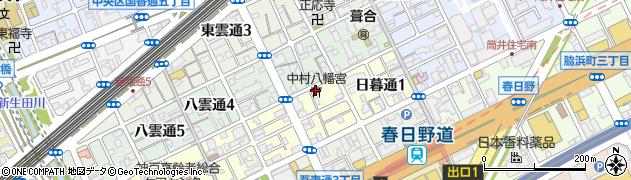 中村八幡宮周辺の地図