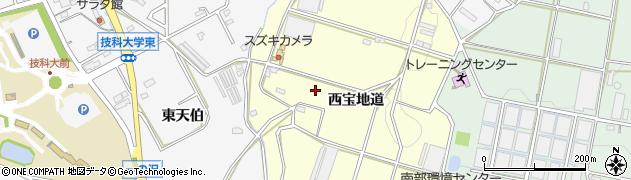 愛知県豊橋市東七根町(西宝地道)周辺の地図