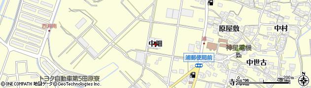 愛知県田原市浦町(中畑)周辺の地図