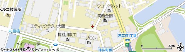兵庫県尼崎市西周辺の地図
