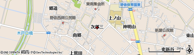 愛知県豊橋市野依町(次郎三)周辺の地図