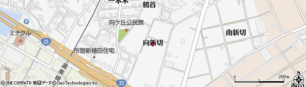 愛知県豊橋市植田町(向新切)周辺の地図
