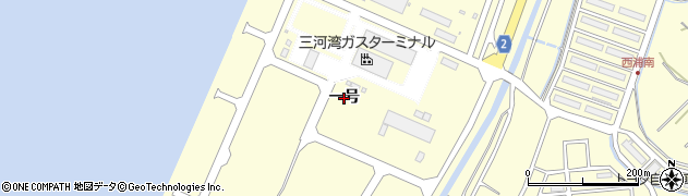 愛知県田原市緑が浜(一号)周辺の地図