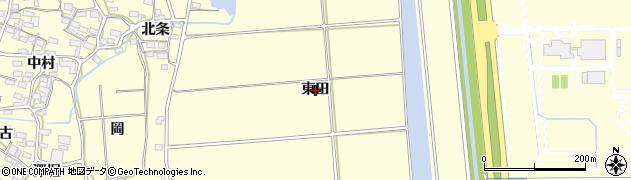 愛知県田原市浦町(東田)周辺の地図