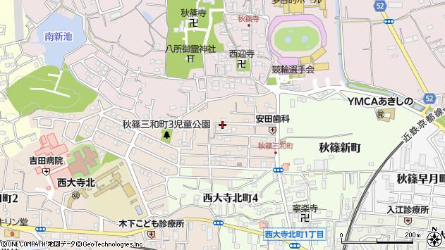 〒631-0814 奈良県奈良市秋篠三和町の地図