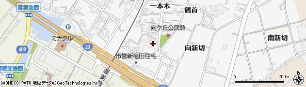 愛知県豊橋市植田町(一本木)周辺の地図