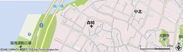 愛知県豊橋市老津町(森崎)周辺の地図