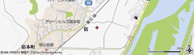 岡山県岡山市北区宿周辺の地図