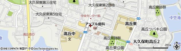 兵庫県明石市大久保町高丘周辺の地図