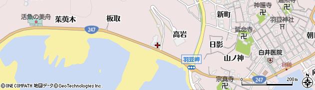 愛知県南知多町(知多郡)師崎(高岩)周辺の地図