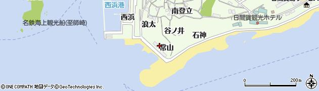 愛知県南知多町(知多郡)日間賀島(常山)周辺の地図
