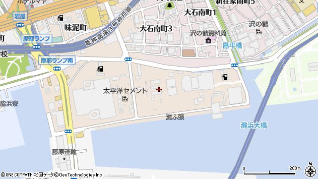 〒657-0853 兵庫県神戸市灘区灘浜町の地図