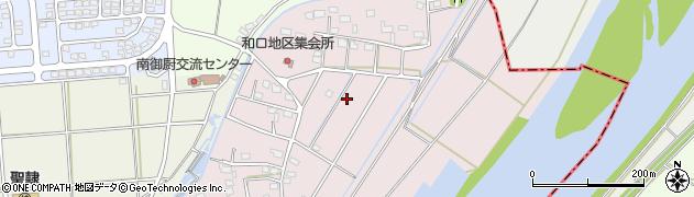 静岡県磐田市和口周辺の地図