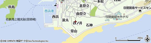 愛知県南知多町(知多郡)日間賀島(谷ノ井)周辺の地図