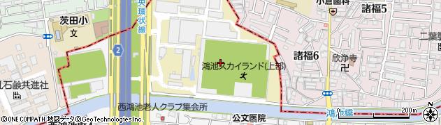 大阪府東大阪市北鴻池町周辺の地図