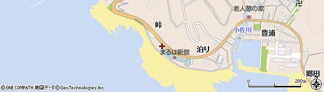 愛知県南知多町(知多郡)豊浜(峠)周辺の地図
