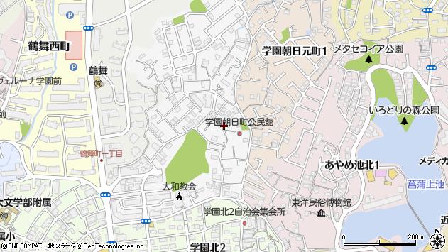 〒631-0016 奈良県奈良市学園朝日町の地図