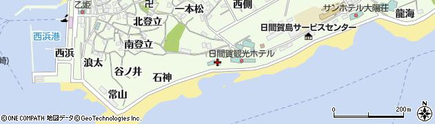 愛知県南知多町(知多郡)日間賀島(下海)周辺の地図