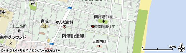 三重県津市阿漕町津興周辺の地図