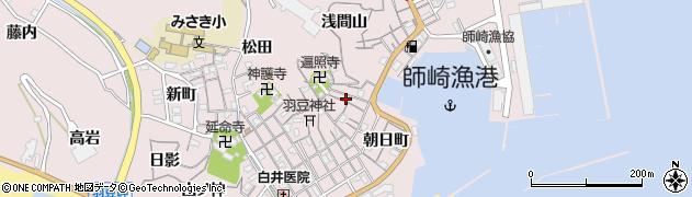 愛知県南知多町(知多郡)師崎(栄村)周辺の地図