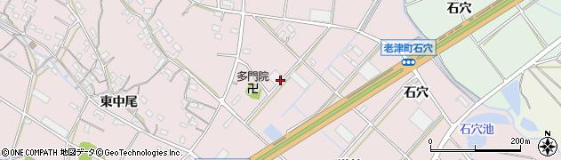 愛知県豊橋市老津町(薬師前)周辺の地図
