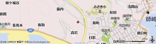 愛知県南知多町(知多郡)師崎(藤内)周辺の地図