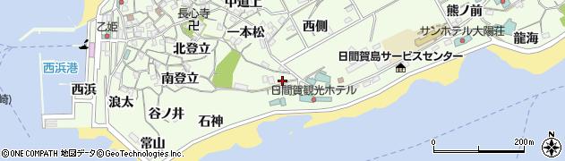 愛知県南知多町(知多郡)日間賀島(天ノ山)周辺の地図