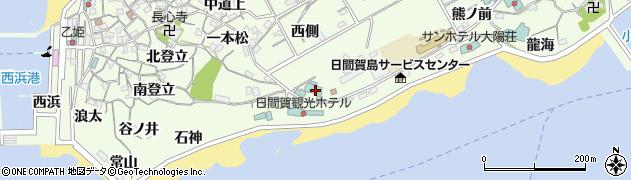 愛知県南知多町(知多郡)日間賀島(西永峯)周辺の地図