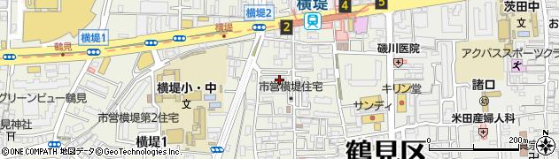 府営横堤住宅周辺の地図