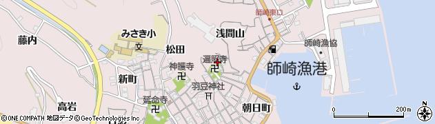 愛知県南知多町(知多郡)師崎(寺脇)周辺の地図
