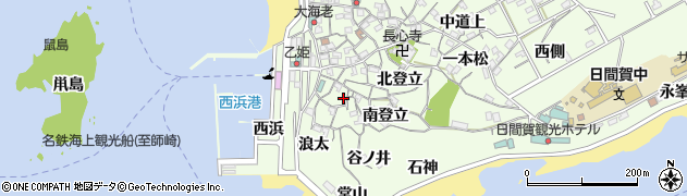 愛知県南知多町(知多郡)日間賀島(浪太)周辺の地図