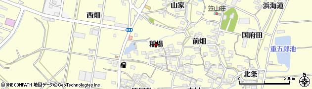 愛知県田原市浦町(稲場)周辺の地図