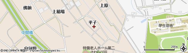 愛知県豊橋市野依町(平子)周辺の地図