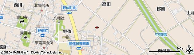 愛知県豊橋市野依町周辺の地図