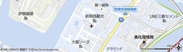 兵庫県尼崎市大高洲町周辺の地図