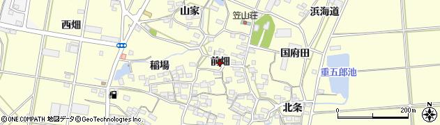 愛知県田原市浦町(前畑)周辺の地図