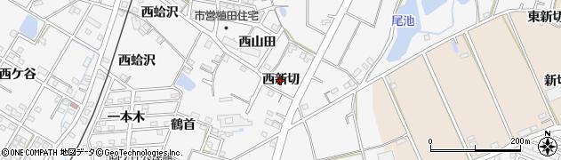 愛知県豊橋市植田町(西新切)周辺の地図
