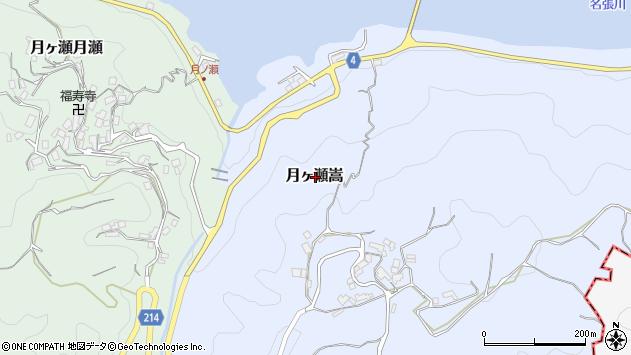〒630-2304 奈良県奈良市月ヶ瀬嵩の地図